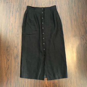 Talbots skirt pencil Irish linen 10P high waist